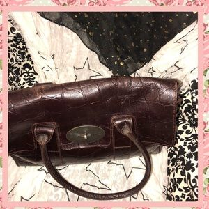 fc0203bac2c3 ... release date mulberry bags mulberry embossed crocodile satchel used  condition 838cd 65cd8